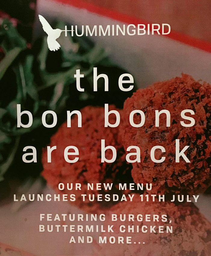Our New Menu Launch
